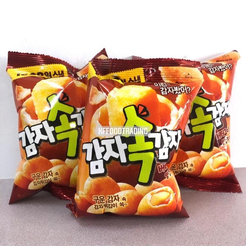 韓國進口零食 好麗友烤黃油味土豆球 54g 網紅零食小吃 休閒食品
