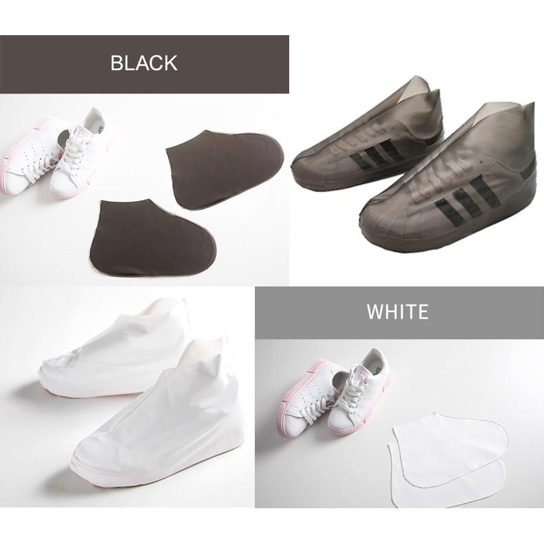 (สินค้าพร้อมส่ง) ถุงเท้ากันน้ำ รุ่น TPU หรือ ซิลิโคนครอบรองเท้าก