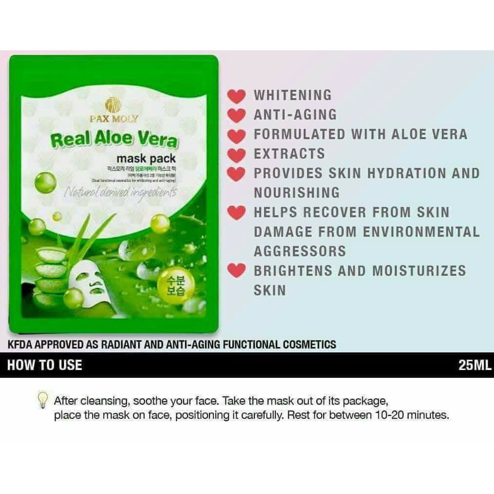 Pax Moly Real Aloe Vera Mask Pack 25ml