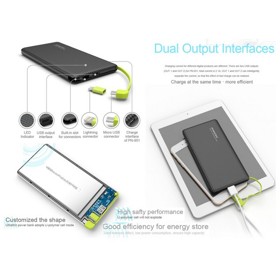 Pineng Power Bank PN 951 10000mAh 100% original Pineng