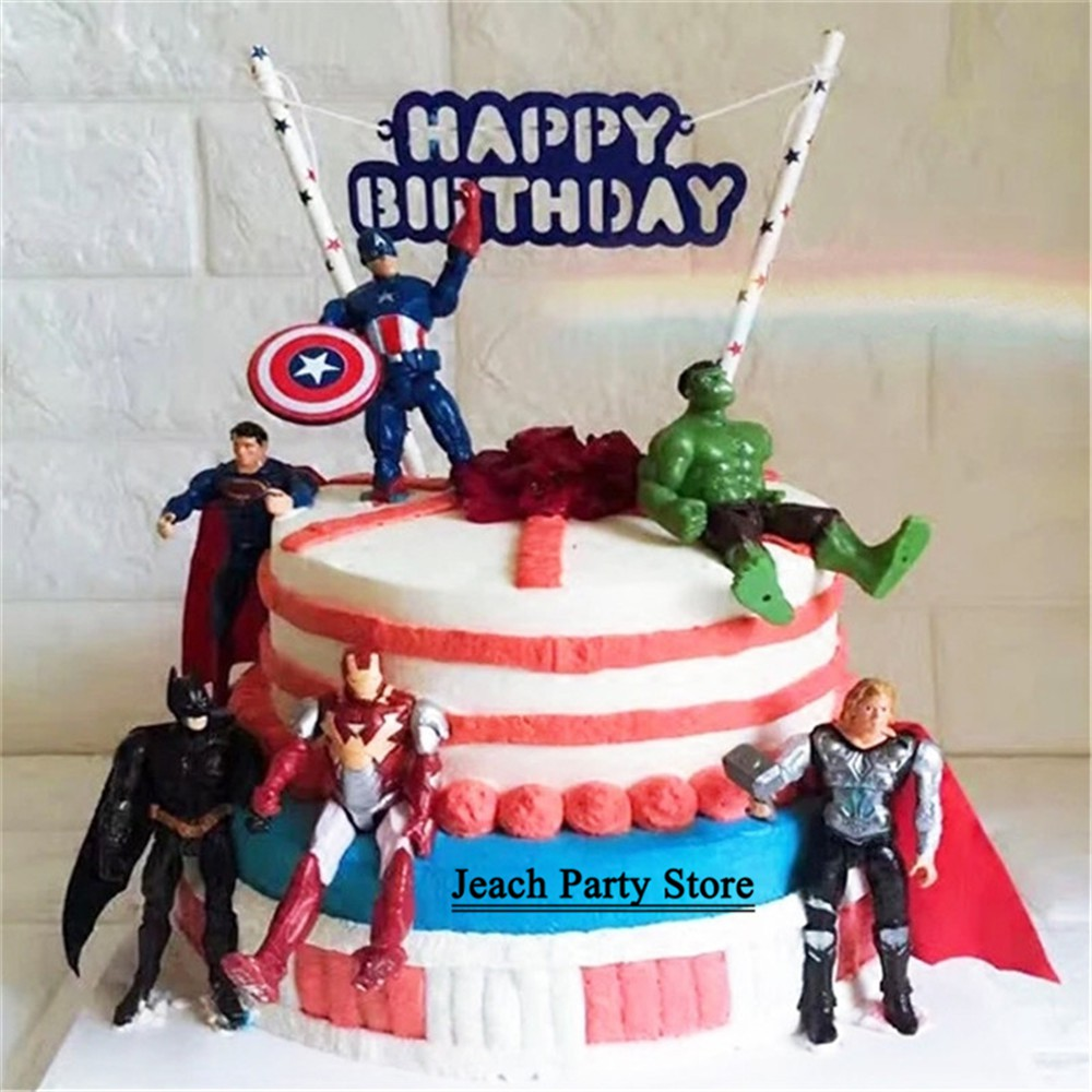 Fabulous Avengers Toys Topper Cake Decorating Super Hero Party Favors China Funny Birthday Cards Online Necthendildamsfinfo