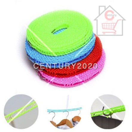 Drying Rope Anti-Skid Windproof Clothesline Portable Outdoor Travel Clothesline Rope Drying Laundry Utensils 5 Meters
