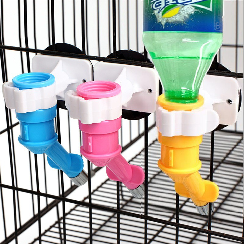 Stainless Steel Colorful Hanging Pet Water Feeder Bottle Head Fountain | High Quality Drinking Dispenser | Cat Dog Birds