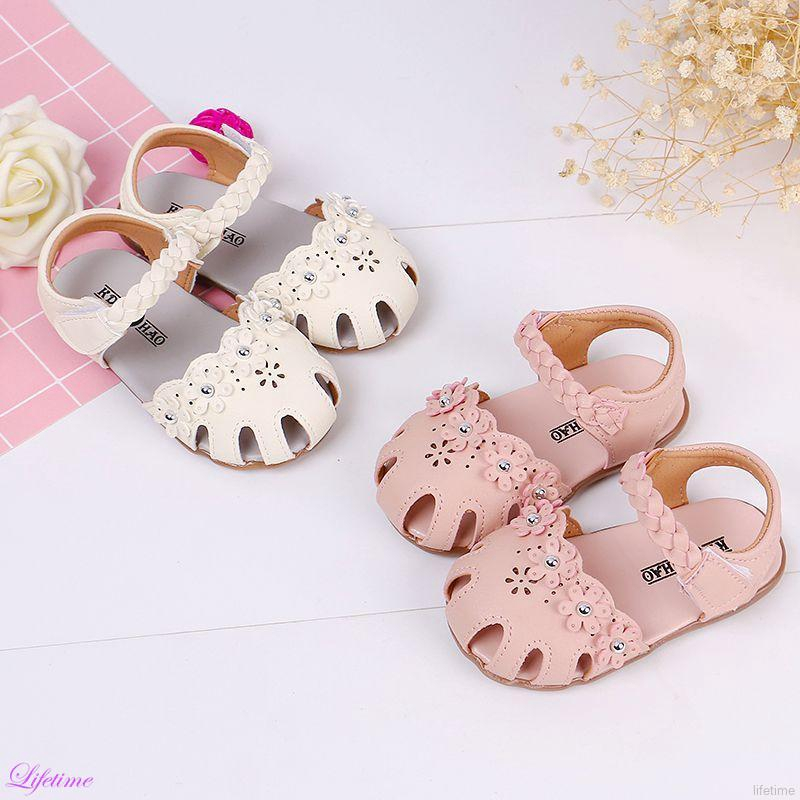 b21cd7f1b2 Kids Baby Girl Soft Sole Shoes Anti-slip Floral Design Sandals