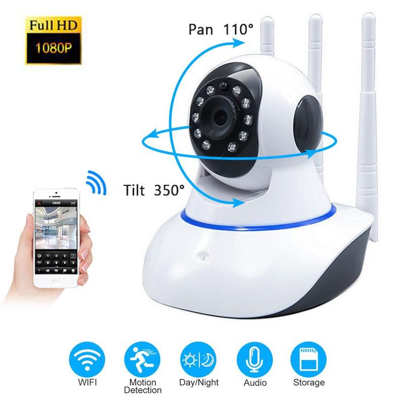 🔥YOOSEE 🔥 HD 1080P IP Camera Three Antenna Home Security Wireless Video  Camara CCTV Wifi IR Baby Monitor Audio Record