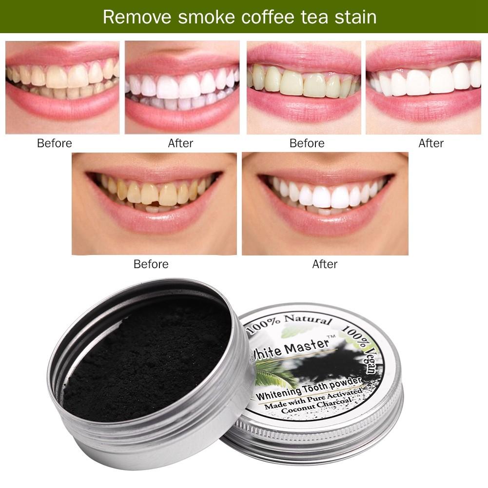 Natural Bamboo Charcoal Teeth Whitening Powder Smoke Coffee Tea