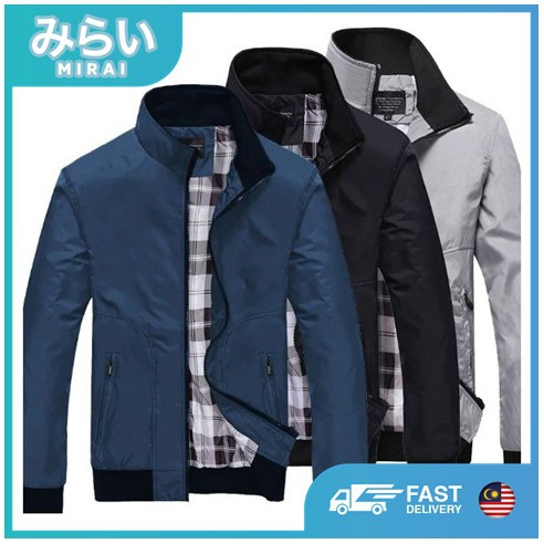 6e0682116 [LOCAL Seller FAST Delivery!] MIRAI Men's Waterproof Bomber Jacket Office  Casual Wear Collar Casual Fashion