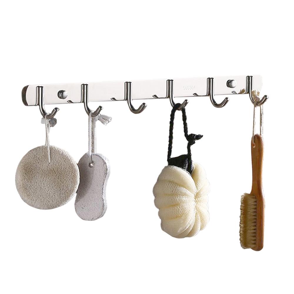 NaVa 304 Stainless Steel Bathroom Hook Towel Shelf