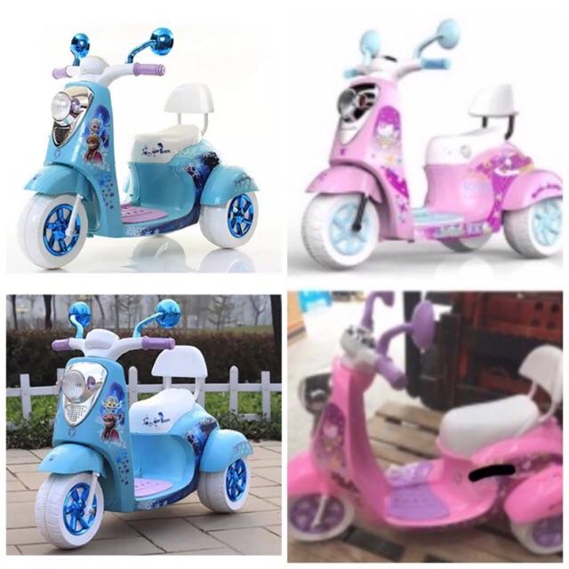 Kids castle รถมอเตอร์ไซด์เจ้าหญิงสีฟ้า แบตเ