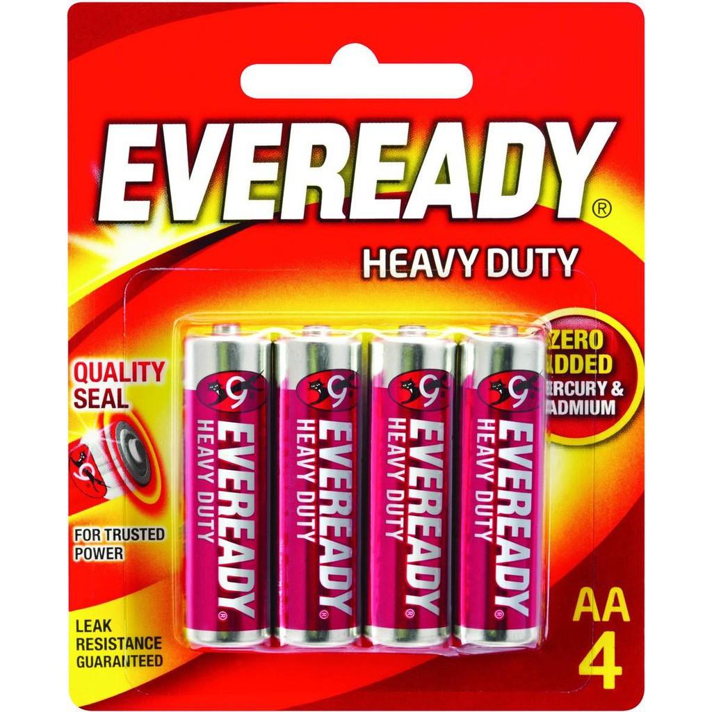 Eveready Heavy Duty Battery, Batteries (ORIGINAL) NEW ( AA / AAA )