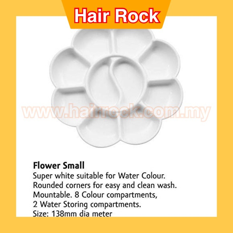 Small Flower Shape Nail Art Paint Color Mixing Palette Plate Disk