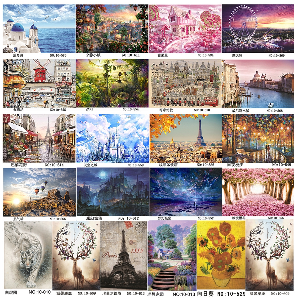 Puzzle Adult 1000Piece Landscape Large Wooden Jigsaw Decompression Game Toy Gift