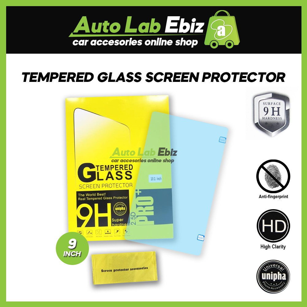 """Android Player 9"""" Screen Protector Tempered Glass"""