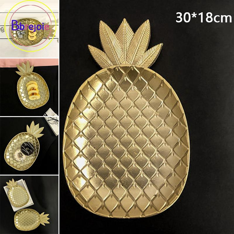 pretty nice 42f87 b03f3 Useful MDF 30*18cm Pineapple Fruit Plate Home Kitchen Wedding Coffee Table  Room Decor Ornaments Kitchenware Gold Tray