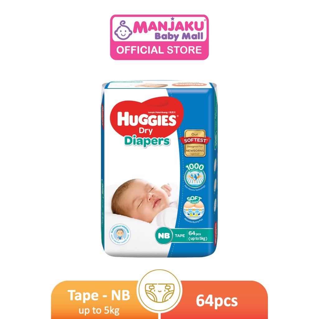 Huggies Dry Diaper Jumbo Pack - NB/S