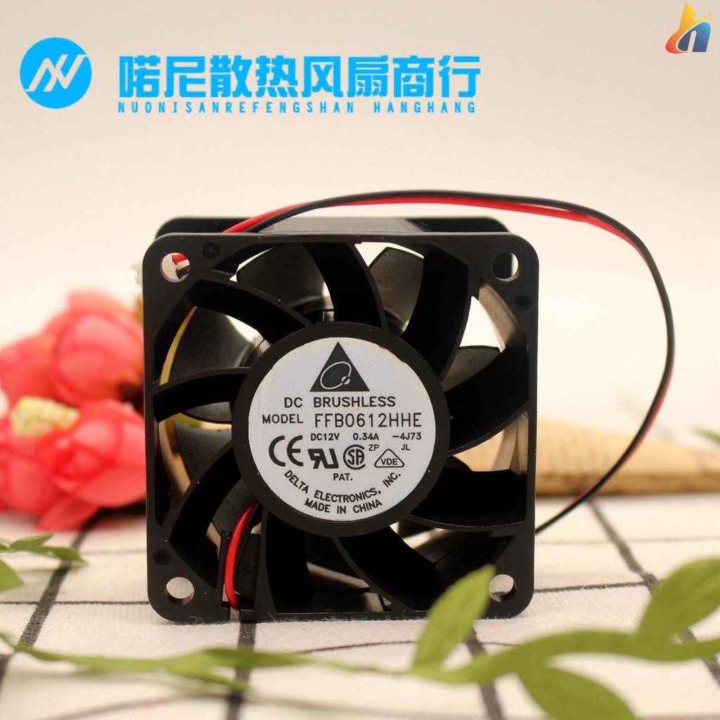 for Delta FFR0612DHE 6038 12V 3.30A 6CM 4-Wire Server Cooling Fan