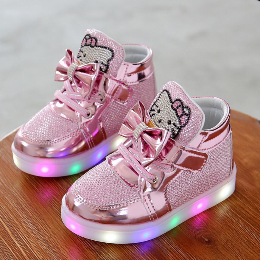 Sweet Baby Girl Shoes Three Colors Princess Infant Shoes Kids Walking Shoes Bow