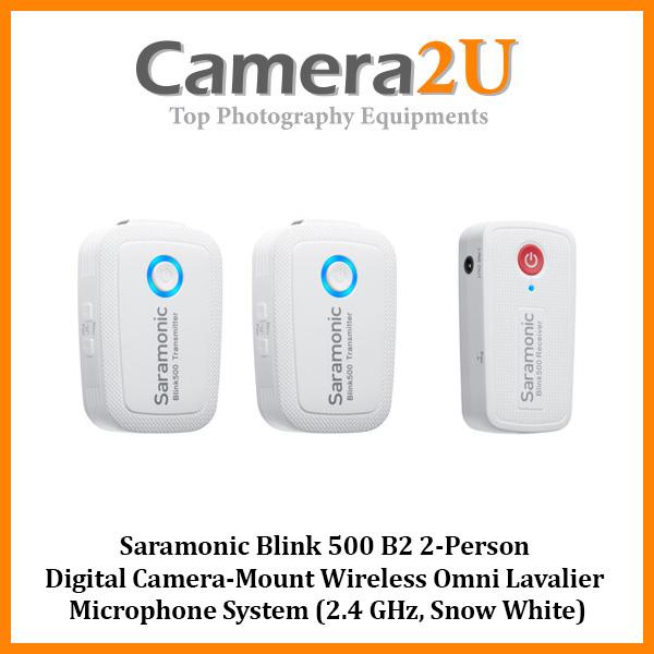 Saramonic Blink 500 B2 2-Person Wireless Clip on Lavalier Microphone (Snow White)