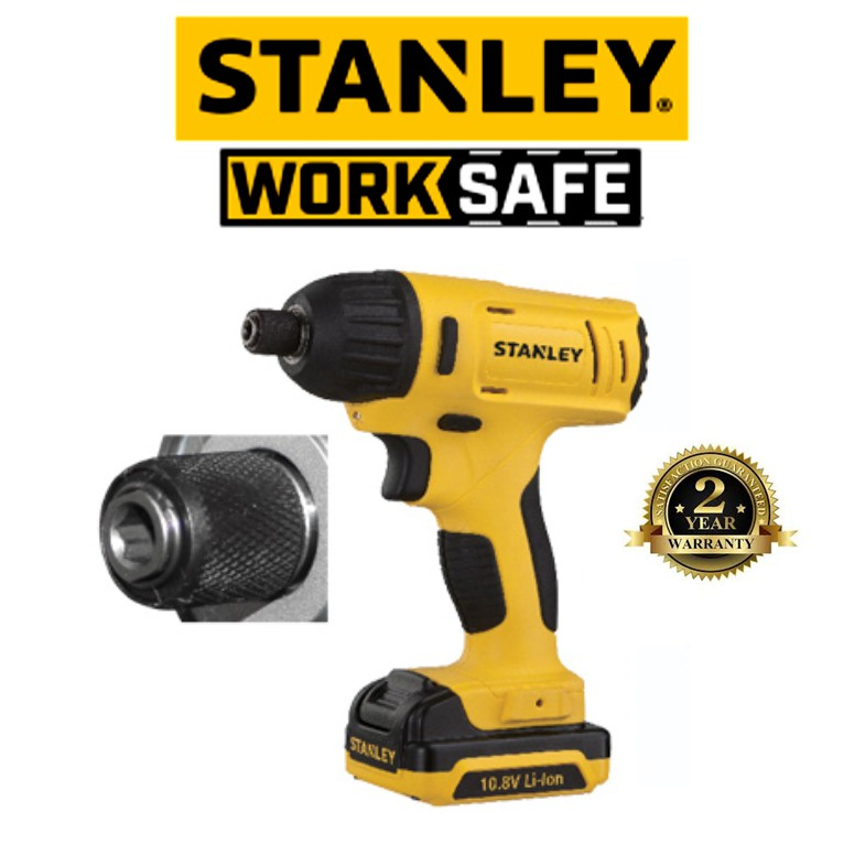 STANLEY SCI12S2 10.8V IMPACT DRIVER WITH 1.5H + 2 BATTERIES + CHARGER + CARRY BAG ( 2 YEAR WARRANTY)