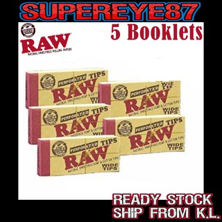 1 by Raw Raw Rolling Paper Tips 10 Booklets