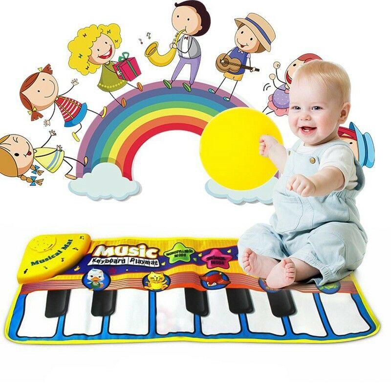 Musical Music Kid Piano baby Play Mat Animal Educational Soft Kick Toy Keyboard