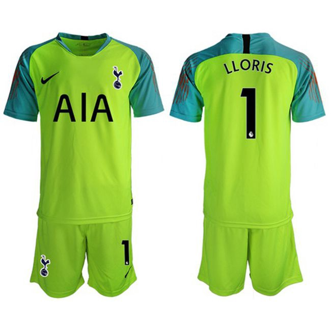 Tottenham Hotspur 1 Lloris Shiny Green Goalkeeper Soccer Club Jersey Lightweight Breathable Football Jersey Shopee Malaysia