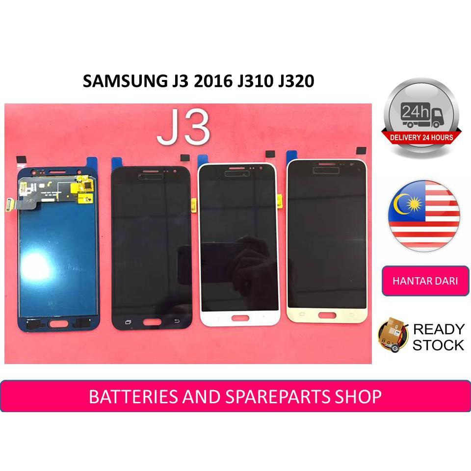 BSS Samsung J3 2015 J300 / J3 2016 J310 / J320 J320G Lcd + Touch Screen  Adjustable Brightness