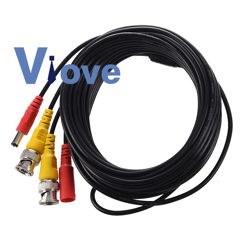 New 33FT 10M BNC Video Power Cable for CCTV DVR Surveillance Security Camera Cam