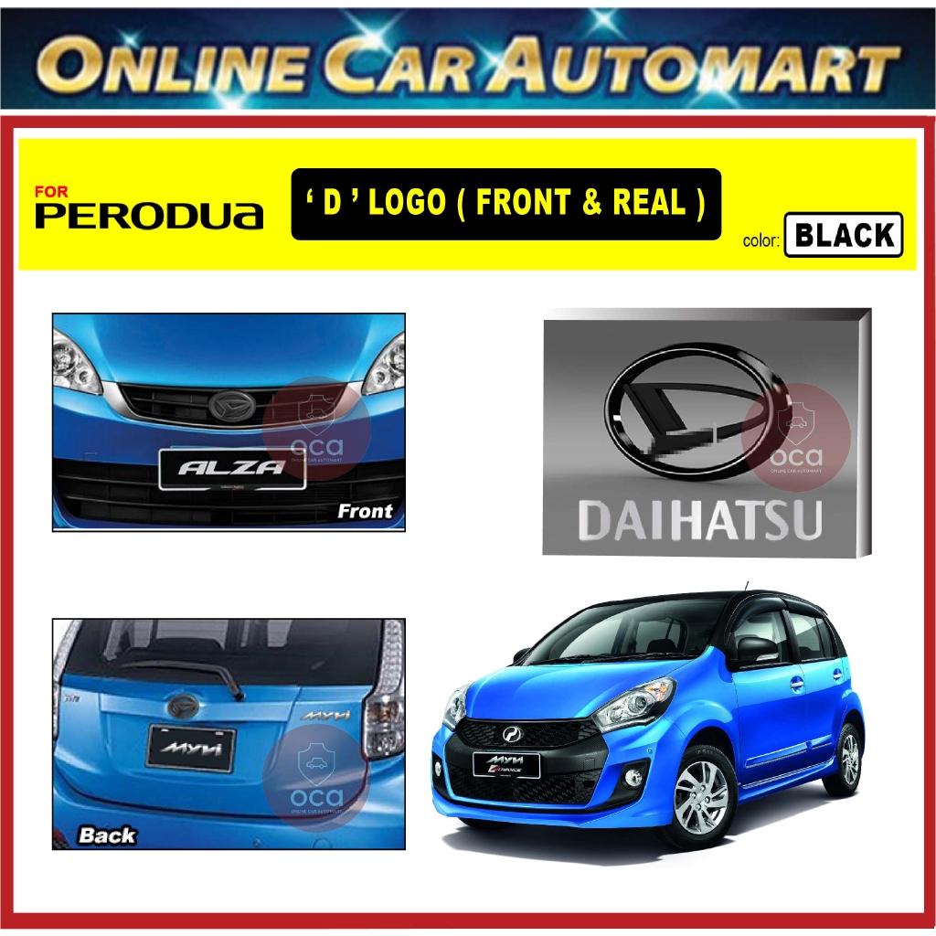 PERODUA MYVI LAGI BEST 2011-1016 Front and Rear Convert Daihatsu Chrome / Black ABS Logo Emblem (2pcs)