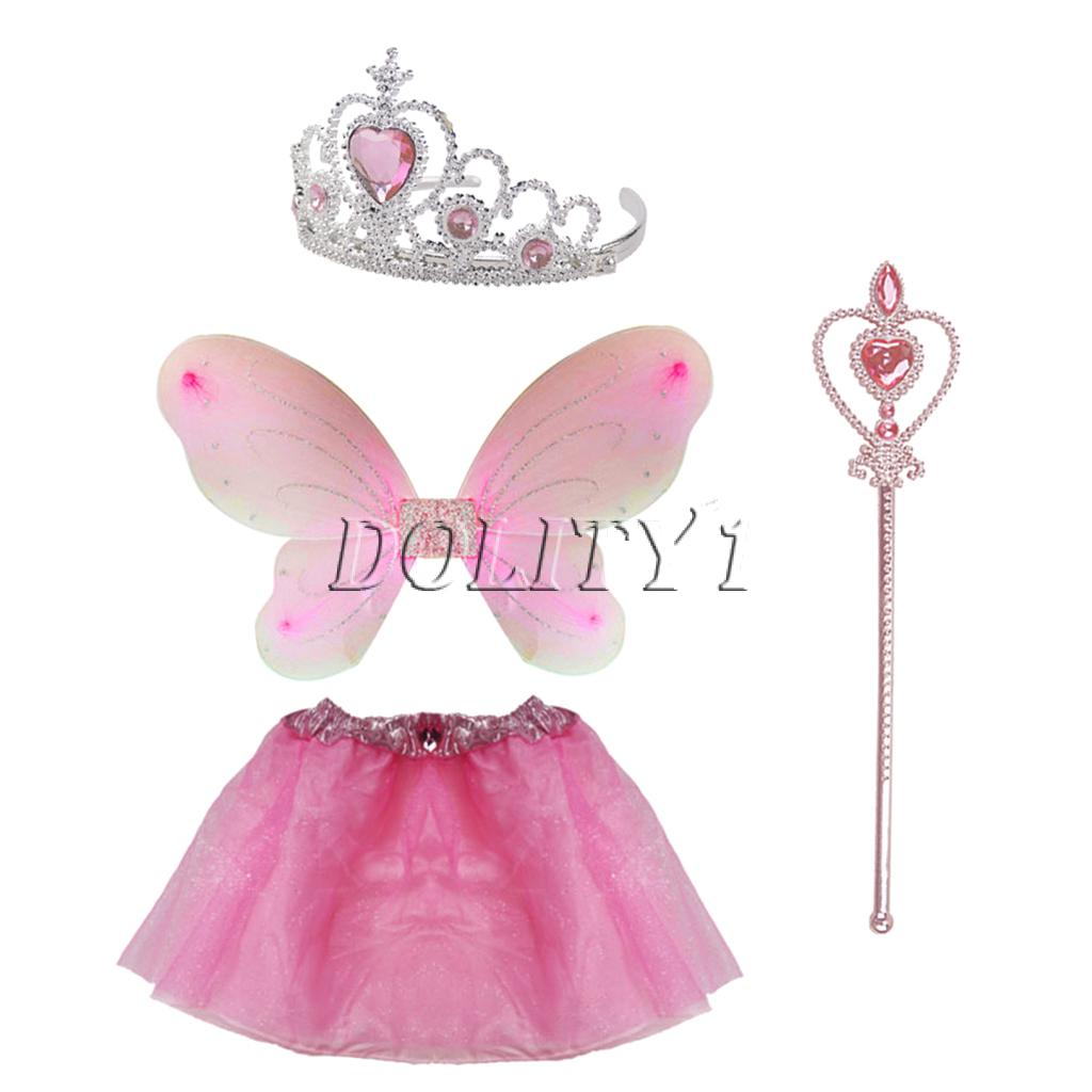 Tutu,Wings,Crown,Wand Pink Fairy Princess Pack