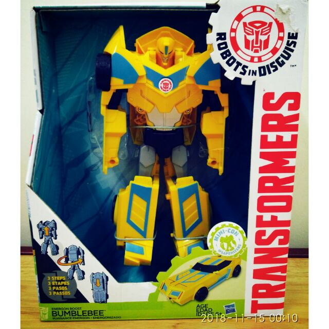 Robots in Disguise 3-Step Changers Energon Boost Bumblebee Transformers