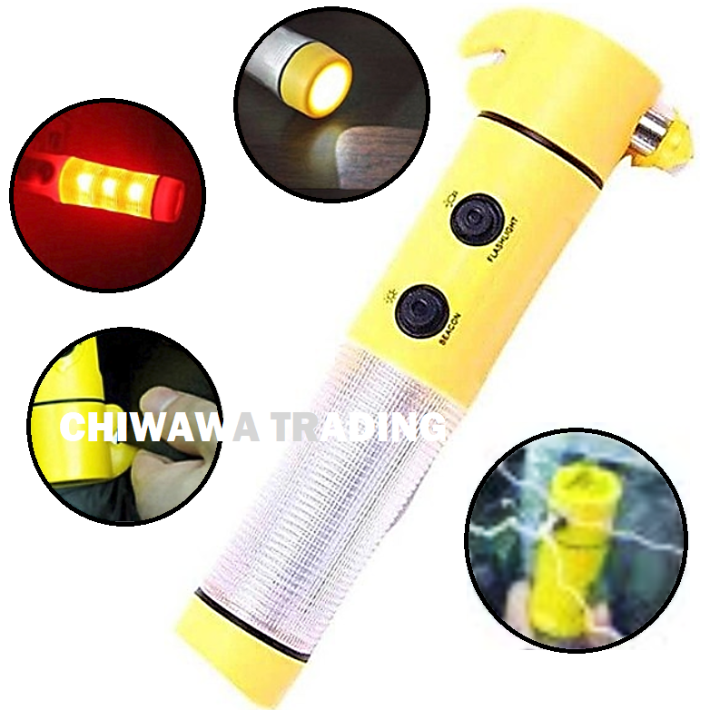 4 IN 1 LED Magnetic Torch Seat Belt Cutter Safety Car Emergency Escape Hammer