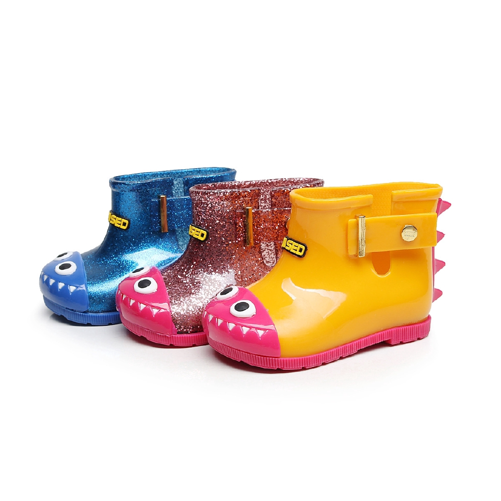 28e85a5db4c5 Children Baby Warm Waterproof Toddler Cartoon Dinosaur Rain Boots Shoes  Slip On   Shopee Malaysia
