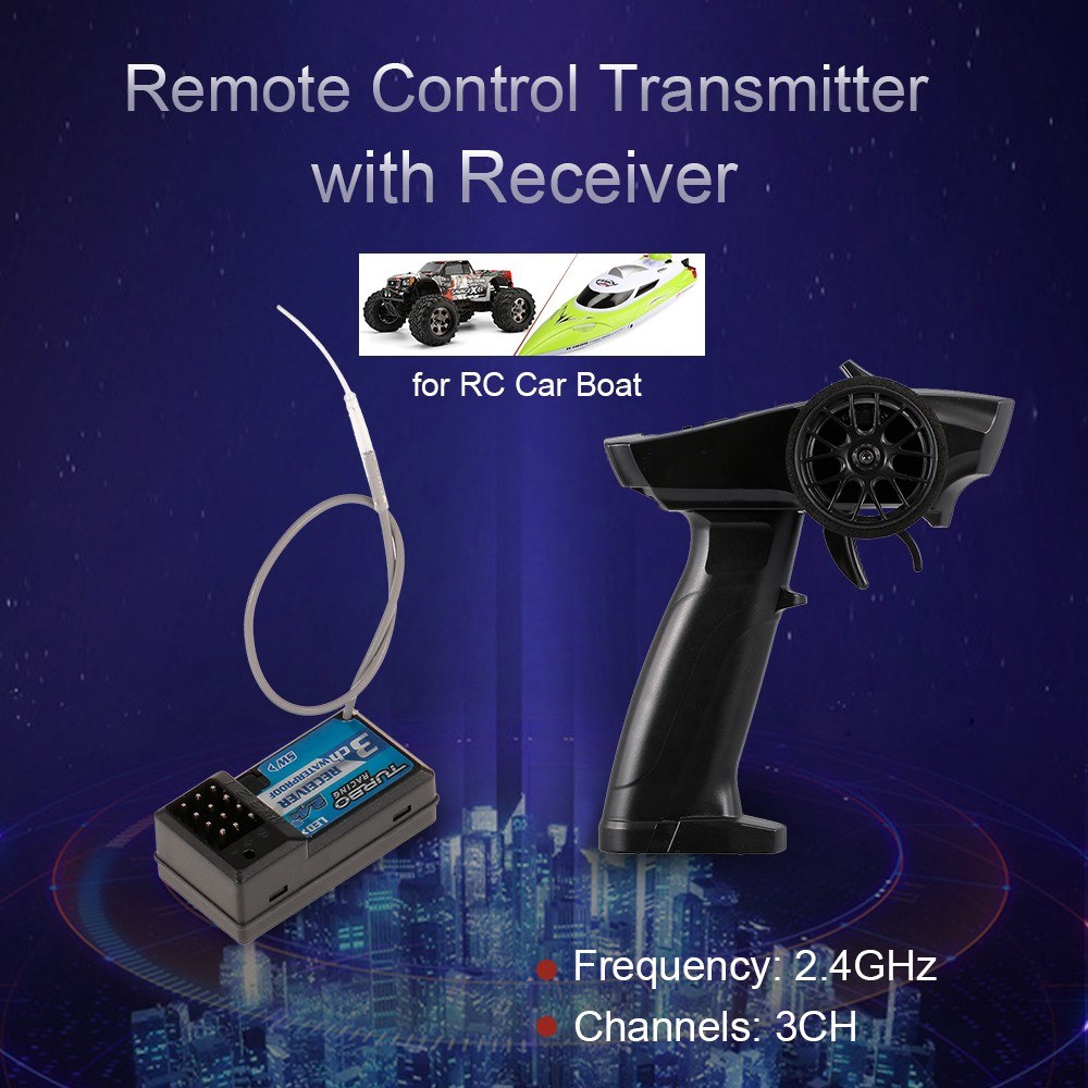 Racing 91803G 2.4GHz 3CH 3 Channel Radio Transmitter Controller Remote Control