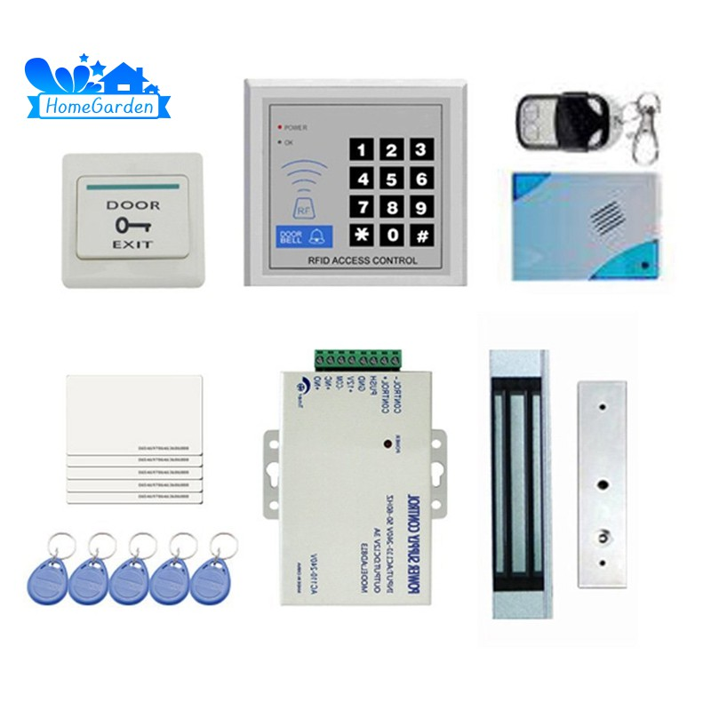 🌴DIY Full Complete RFID Door Access Control Kit Set for Single Door  180kg/396Lbs