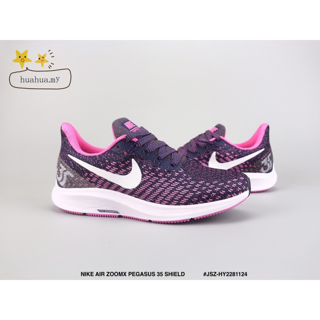 cf1d2b801e78d 🔥🔥Ready Stock NIKE AIR ZOOMX PEGASUS 35 SHIELD purple running shoes