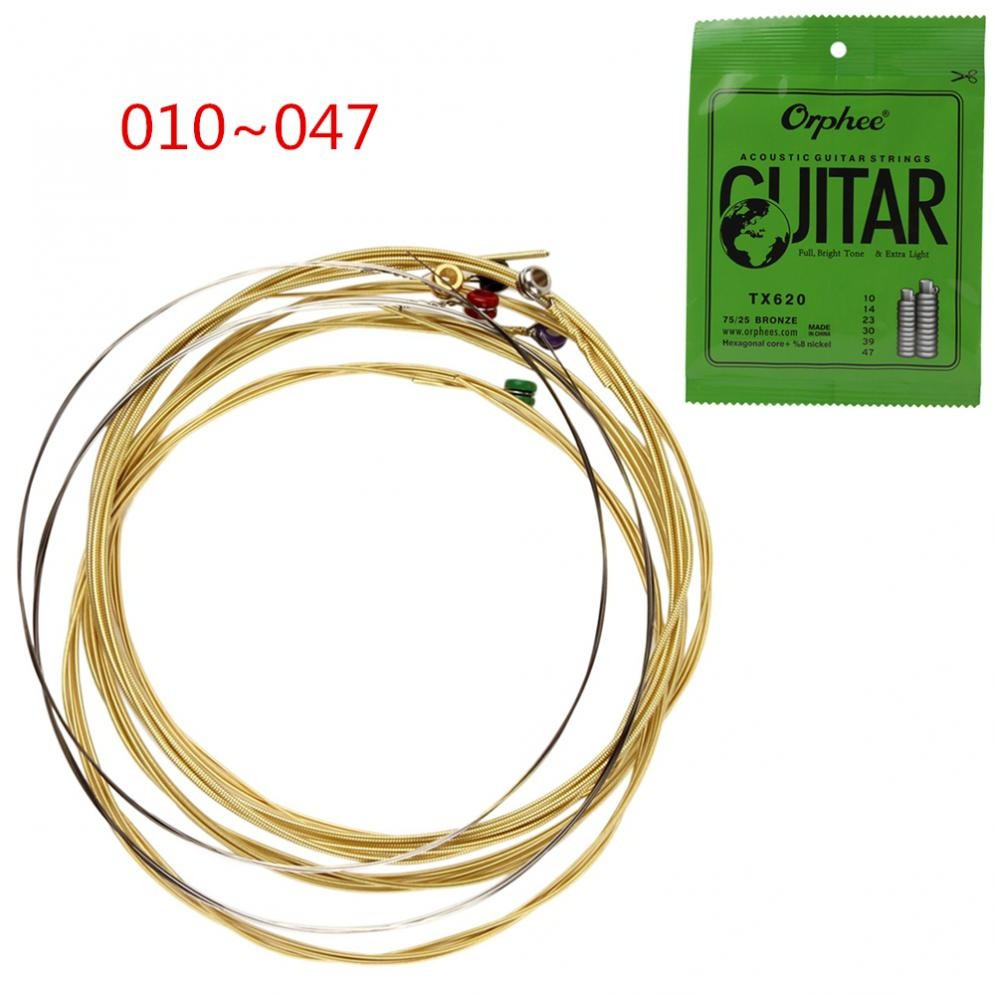 Stainless Steel/Copper Alloy Wound Acoustic Guitar Strings | Shopee Malaysia