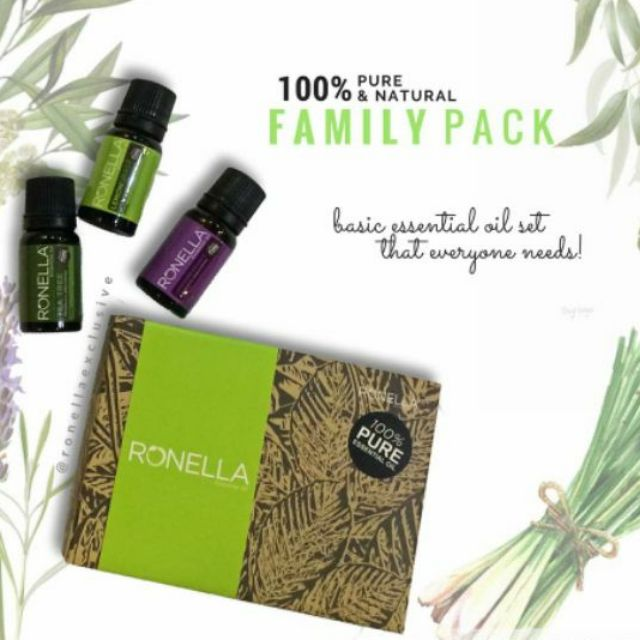 RONELLA ESSENTIAL OIL FAMILY PACK ( Lavender, Tea Tree, Lemongrass) | Shopee Malaysia