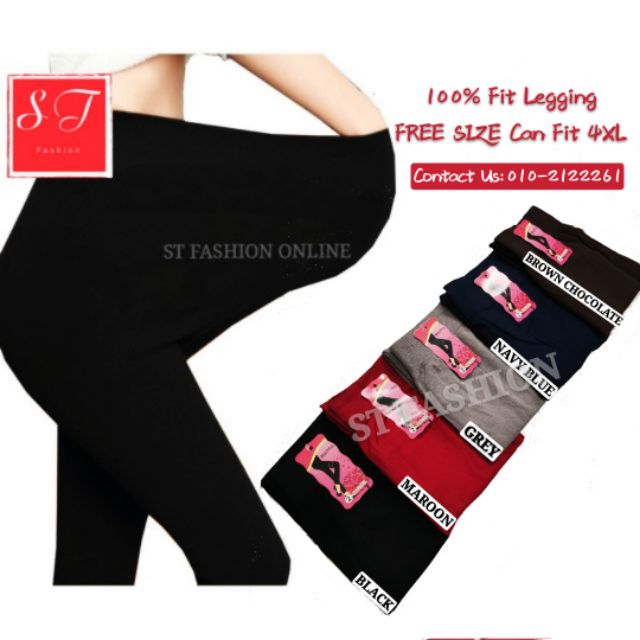 it chocolate 尺码_S-4XL Side Lining 9500 COTTON One Size Fit All Legging Pant Plain/Tebal Seluar Legging ...