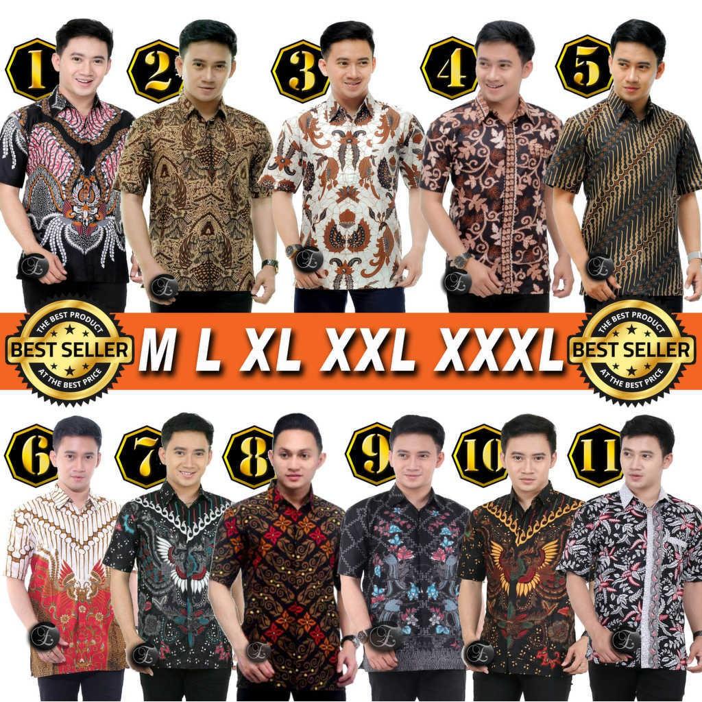 Batik Clothes Men BATIK Shirt Men HEM BATIK Guys Uniform Short Arm Work M L XL XXL XXXL