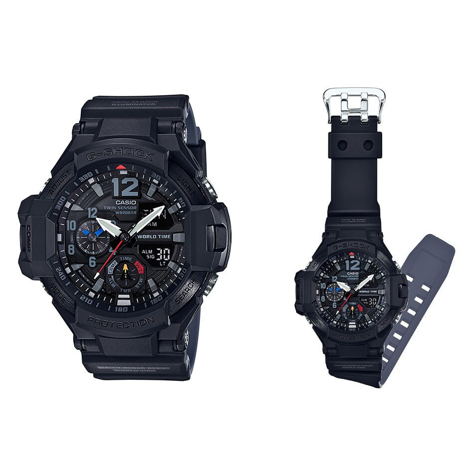 Casio G Shock Gravitymaster Ga 1100gb 1a Twin Sensor Ana Digital 1000 1adr Gravity Master Watch Shopee Malaysia