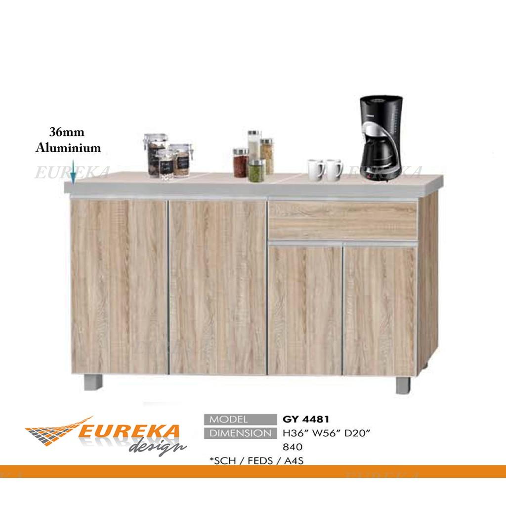 Eureka 4 5ft Xxl Low Kitchen Cabinet Kabinet Dapur Aluminium Edges Drawer Deliver Installation Klang Valley Shopee Malaysia