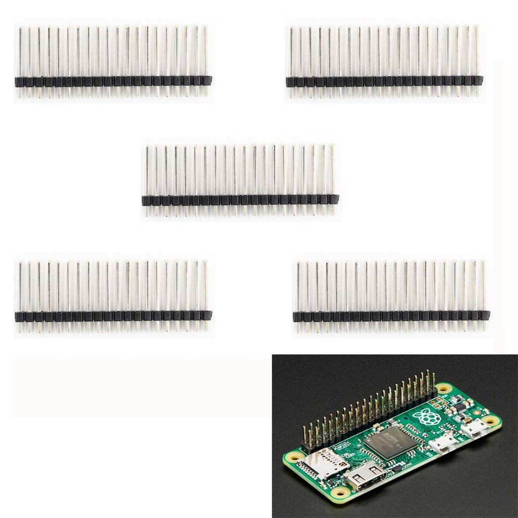 30pcs Pin Header Connector Male 254mm Pitch Strip Single Row 40 Socket Ic 8 Or 2x4 Shopee Malaysia