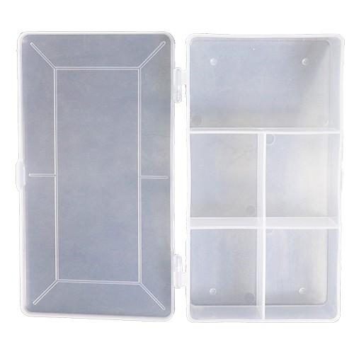 5 Compartment Box (M-5) Visible Portable Plastic Storage Box for Medicine Jewellery Etc.