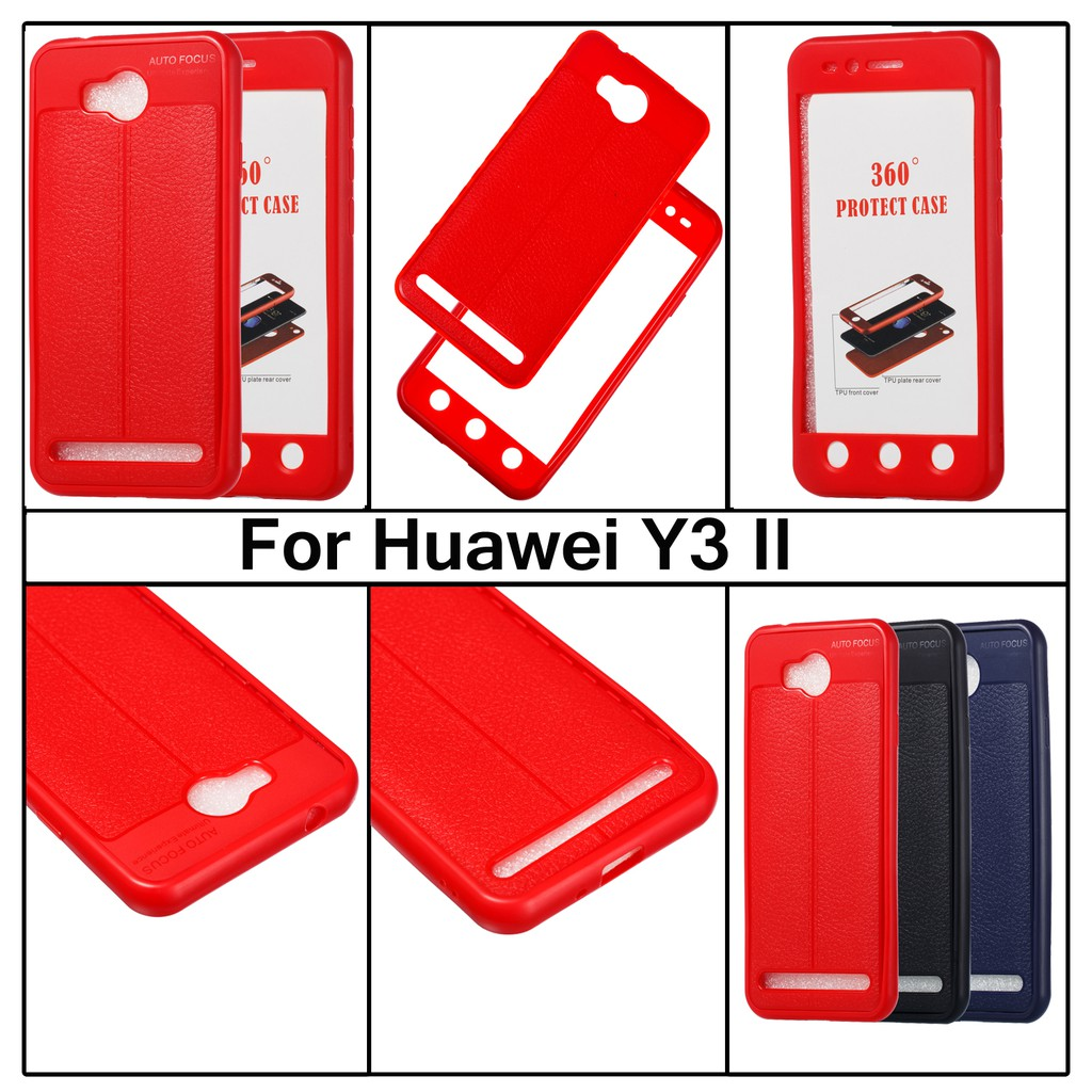 brand new 4fb9d 53789 HUAWEI Y3Ⅱ/Y3/Y5 2017 Case 360° Full Protective TPU Android soft Cover  casing