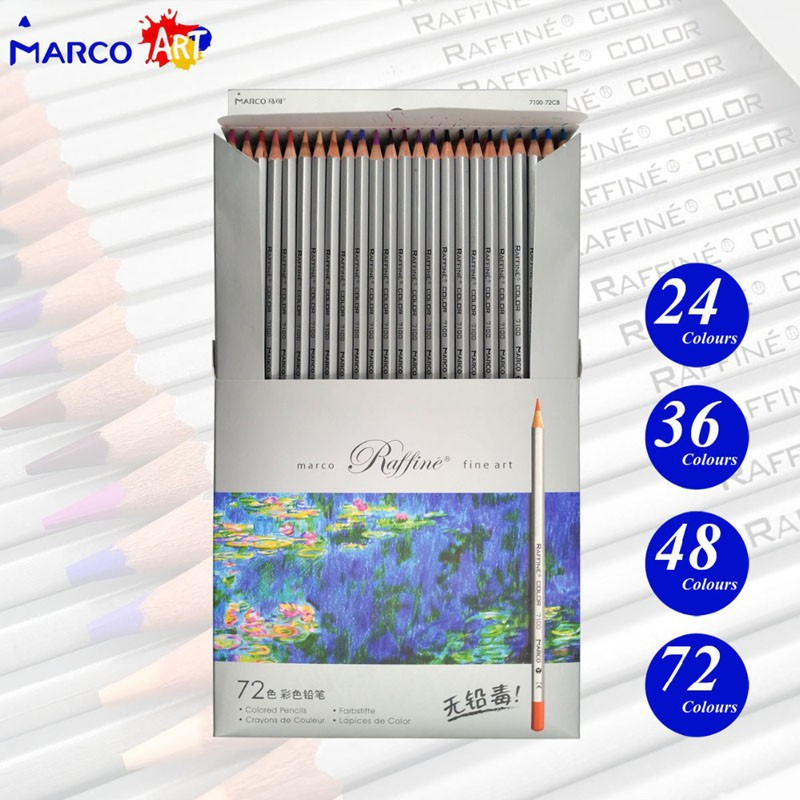 24 36 48 72 Colors Oil Painting Oily Colored Pencil Set Art Supplies For Write