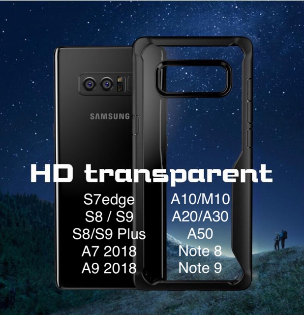 Samsung A10,A20/30,A50 A7,A9 Note8,9 S7edge,S8,S9,S8plus,S9plus case anti  shock cover transparent casing