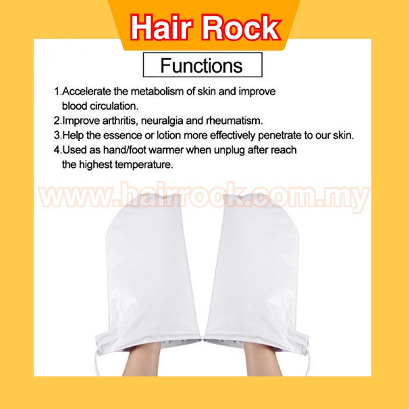 Electric Manicure Heated Mitts for Paraffin Wax SPA Treatment