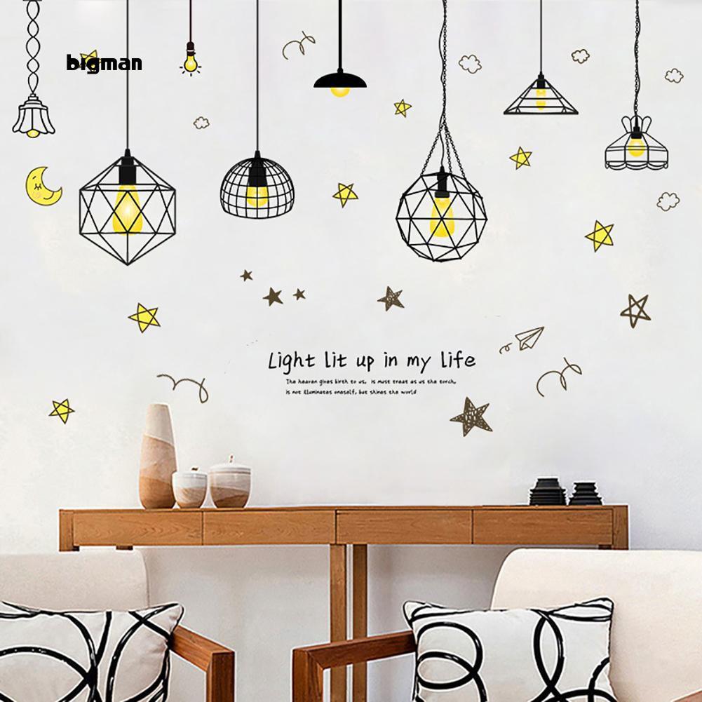 Bigman Modern Star Moon Wallpaper Background Baby Room Home Office Wall Sticker Decor