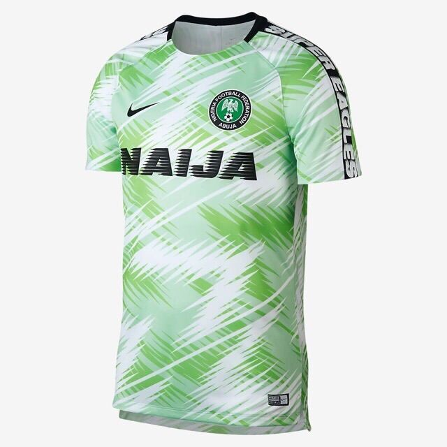 san francisco 30b7c c2d60 2018 World Cup Nigeria National Team Home Away Football Jersey Short Sleeve
